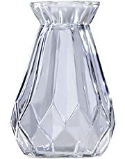 Hosaire 1X Jarrón de Cristal Floreros de Terrario Lindas Macetas de Vidrio de Sobremesa Moderno de Florero para Decoración del Hogar, de Boda,Cuadrado,Moderno Jarrón Decorativo