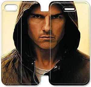caso del tirón del cuero Tom Cruise T1V44U8 iPhone 5C funda N5B61U4 diseño de la caja del teléfono funda de cuero personalizada