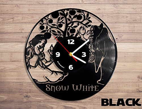 Snow White Disney princess vinyl record wall clock