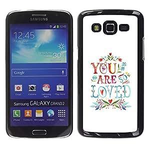 """Pulsar Snap-on Series Teléfono Carcasa Funda Case Caso para Samsung Galaxy Grand 2 II , ¿Son cita del amor Parejas San Valentín"""""""
