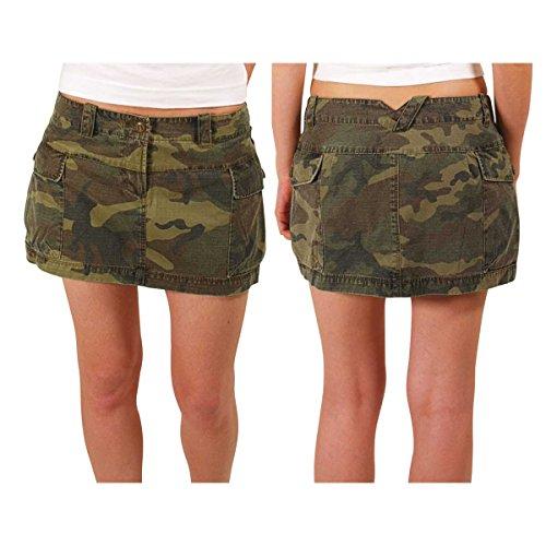 Addict cargo Camo mini falda para mujer camuflaje
