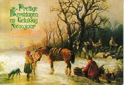 Merry Christmas In Dutch.Amazon Com Used Dutch Language Postcard Merry Christmas
