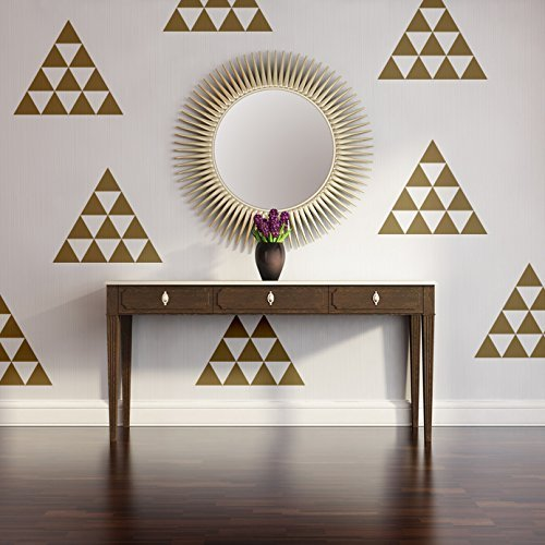 Amazon.com: Triangle Wall Decal, Triangle Decals, Nursery Wall Art ...