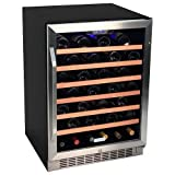 Appliances : EdgeStar CWR531SZ 24 Inch Wide 53 Bottle Built-In Wine Cooler - Stainless Steel/Black