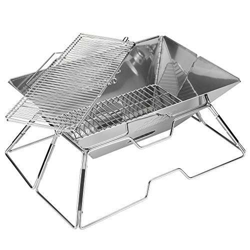 Fox outfitters stainless steel foldable charcoal bbq grill