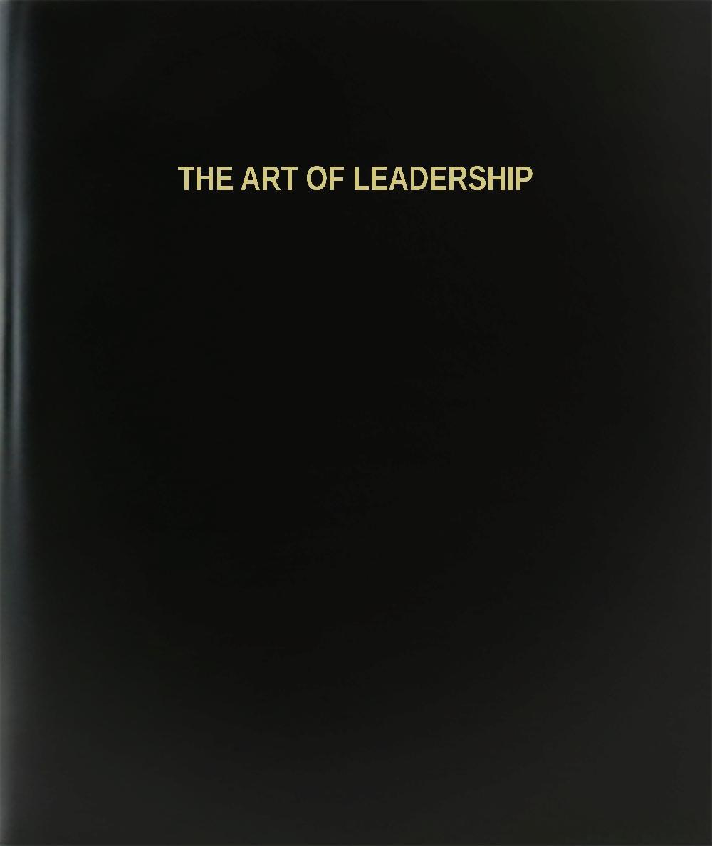 BookFactory® The Art Of Leadership Log Book / Journal / Logbook - 120 Page, 8.5''x11'', Black Hardbound (XLog-120-7CS-A-L-Black(The Art Of Leadership Log Book))