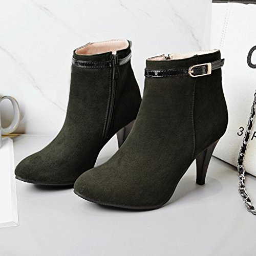Pointed Green Army Stiletto High Toe Stylish Boots Women's High Aisun Ankle Heels SBHEx1P