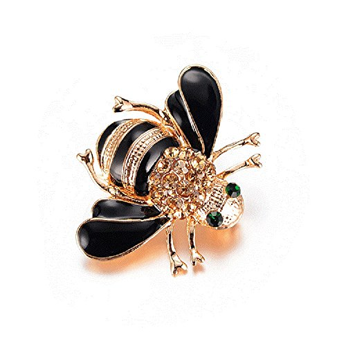 Orcbee  Bees Brooches Enamel Broches Champagne Pins Gift for Mother's Day