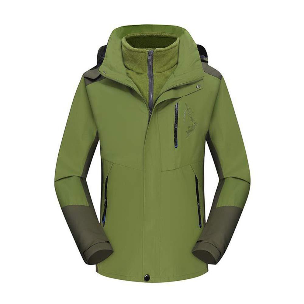 Winter Herren-Plus-Größe-Jacke, Warmer Outdoor-Radanzug Winddicht Wasserdichter Bergsteiger Anzug, Grün