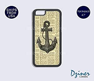 iPhone 6 Case - 4.7 inch model -Newspaper Anchor Pattern iPhone Cover