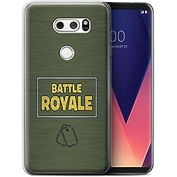 STUFF4 Gel TPU Phone Case/Cover for LG V30/V30+ / Dog Tags Design/FN Battle Royale Collection