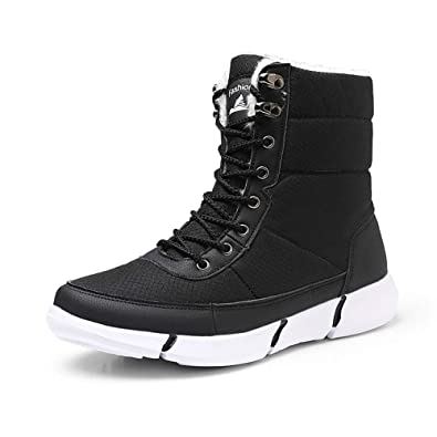 a4c913709f Snow Boots, Mes Womens Winter Flat Ankle Boots Warm Walking Hiking Boots, Womens  Faux