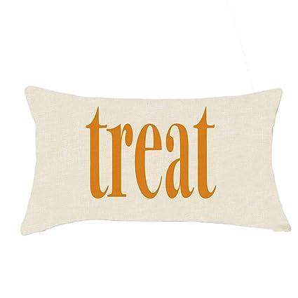 VICKY-HOHO - Funda de cojín para Halloween, Lino, sofá ...