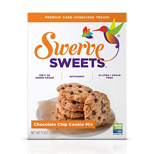 Swerve Sweets, Chocolate Chip Cookie Mix, 9.3 Oz