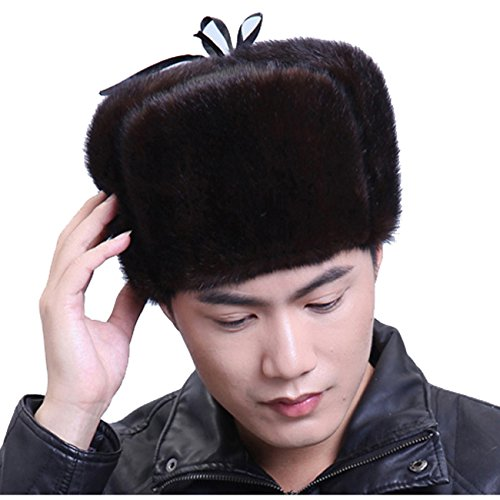 URSFUR Mink Full Fur Russian Hat (One Size, Brown) by URSFUR (Image #7)