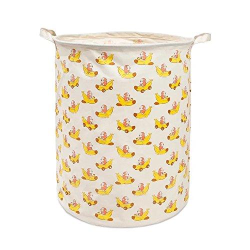 XNWYTECH Basket Toys, Waterproof Toy Storage Bin, Nursery Hamper Baby Room, Laundry Room, Bedroom (Large 19.7'' x 15.7'', Banana Monkey) by XNWYTECH