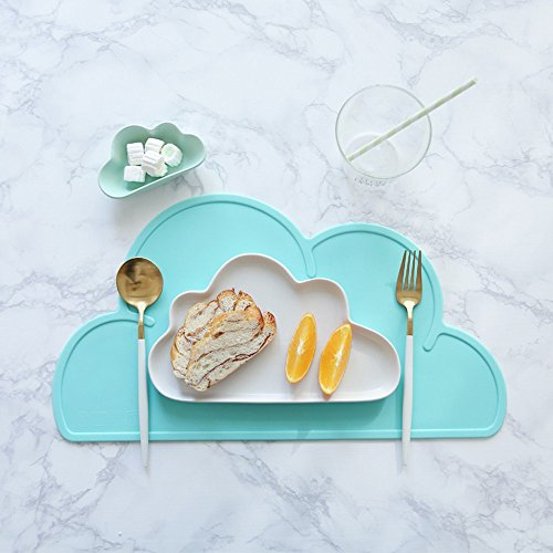 Toddler Placemat - 2 Packs Silicone Baby Reusable Travel Place mat for Kids Kitchen Dining Table Diner Portable Roll up Washable Restaurant Food Mat for Child (2 Packs) by Standard (Image #3)
