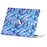 Unik Case - Tropical Abstract Art Series Rubberized Graphic Hard Case for MacBook Pro 13-inch A1706,A1989 with Touch Bar/A1708 without Touch Bar (Release 2016/17/18) - Tropical Leave