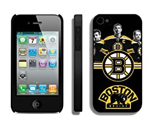 Custom Iphone 4/4s Case NHL Boston Bruins 1 Phone Hard Cover