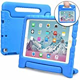 Cooper Dynamo Kids case Compatible with iPad 6, iPad 5, iPad Air 1, iPad 9.7 2017 2018 | Shock Proof Heavy Duty Kidproof Cover for Kids | Girls Boys School | Handle & Stand, Screen Protector (Blue)