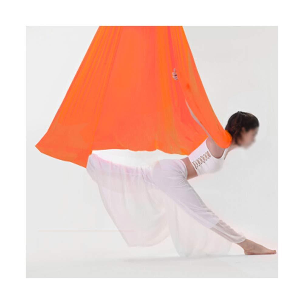 Orange 5M PANGU-ZC Yoga Hamac - Sports en Plein air - Fixations pour Cadre en Soie Swing - Sangles pivotantes - Vue aérienne -17 Hamac de Yoga (Couleur   Orange, Taille   7M)
