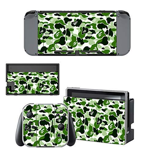 Skin Stickers for Nintendo Switch, Camouflage Decals Protector Cover Wrap Durable Full Set Protection Faceplate Console...