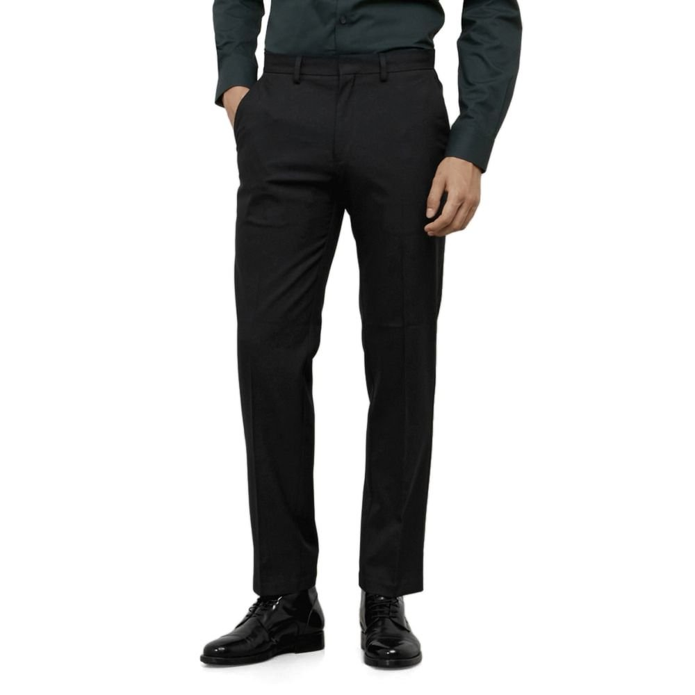 Kenneth Cole REACTION Men's Twill Stretch Modern Fit Flat Front Pant, Black, 34x32 by Kenneth Cole REACTION