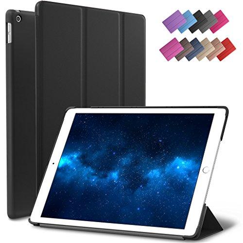 New iPad 9.7-inch 2018 2017 Case, ROARTZ Black Slim-Fit Smar