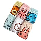 JIEYA 6-Pack Unisex Baby Toddler Panty Underwear Cartoon Printed Pants (Tag Size 110(1-2years))