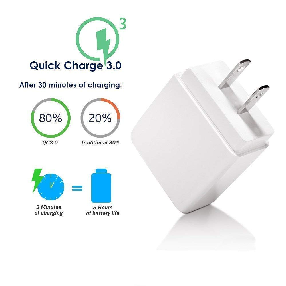 Quick Charge 3.0 Rapid Charger Compatible HTC U12 Plus/ U11 Life, Bolt,HTC U 11 Eyes/HTC U11/ HTC 10, USB Type C 6.6FT Charger Cord Fast Charging ...