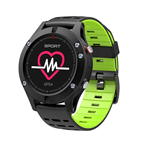 DSMART SP Serials GPS Sports Smart Watch Fitness Activity Traker with Heart Rate Monitor/Barometer/Altimeter/(Green) by DSMART