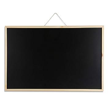 DOEWORKS 90cm x 60cm Tablero de anuncios de pizarra de pizarra para el hogar, la escuela y la oficina, pizarra con marco de madera