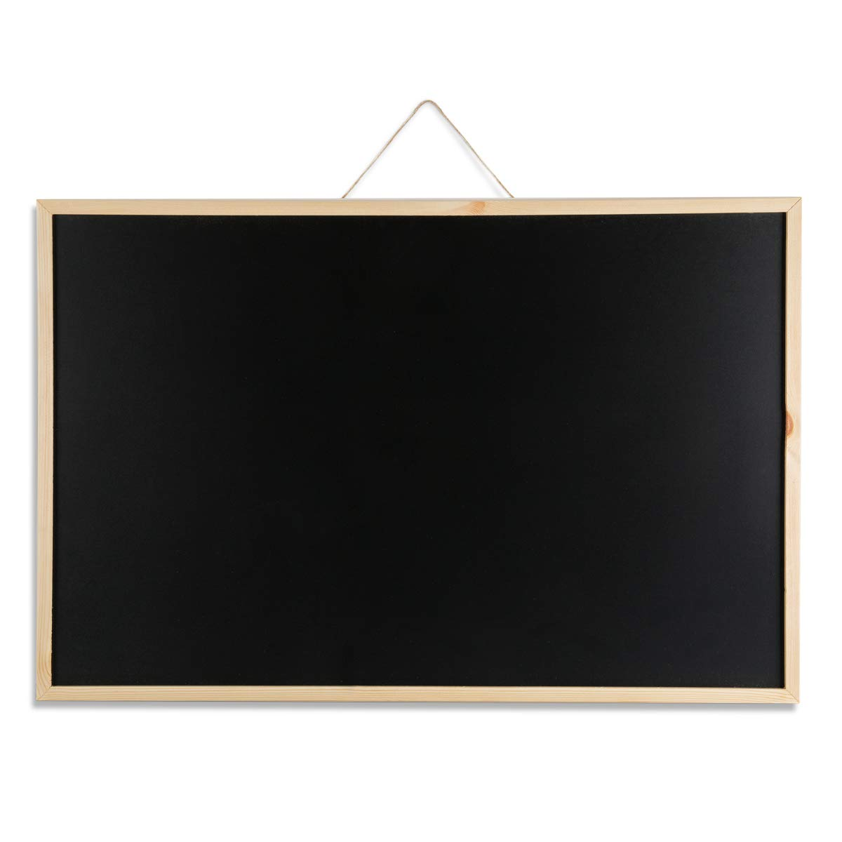 Marble Field 24''x36'' Wall Mounted Chalkboard Blackboard Bulletin Board for Home, School and Office, Wood Frame Chalkboard with 1 Eraser