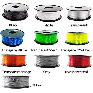 TongLingUSL PETG Filament 1.75mm 1kg/500g Plastic Filament PETG 3D Printing Filament high Strength 3D Printer Filament (Color : 500g Transparent, Size : Free) 6