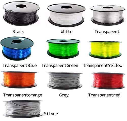 Tonglingusl petg filament 1.75mm 1kg/500g plastic filament petg 3d printing filament high strength 3d printer filament (color : 0.1kg trans yellow, size : free)