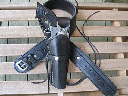 """Leather Smooth Holster 34/"""" to 52/"""" .22 Caliber Gun Belt Combo Natural"""