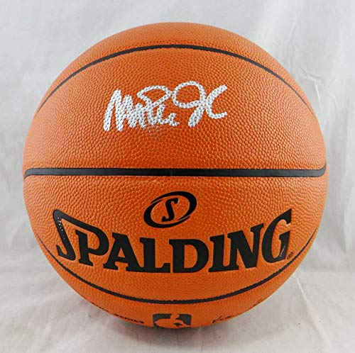 Magic Johnson Autographed Official NBA Spalding Basketball - Beckett Auth Silver