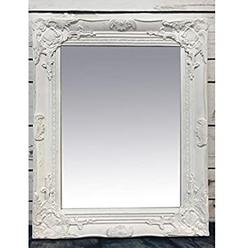 French White Baroque Rococo Wood Frame Antique Ornate Wall Mounted ...
