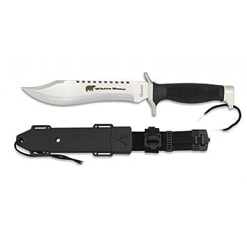 Albainox Cuchillo de Supervivencia White Bear Hoja de Acero INOX de 18 cm.