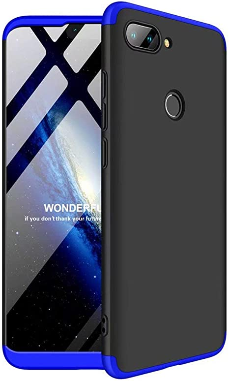 FHXD Compatible con Funda Xiaomi Mi 8 Lite Anti-Shock 360° Carcasa Case Cover Protectora Ultra Thin Anti-Scratch 3 in 1 Caso Cáscara Protectora-Azul Negro: Amazon.es: Electrónica