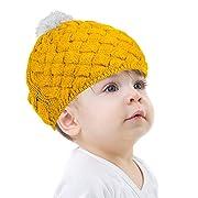 Zodaca Winter Warm Comfort Soft Crochet Pom Pom Beanie Knit Hat for Baby, Boys, Girls, Infant, Toddler, Pink