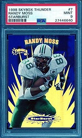 finest selection 563c9 91bdd Amazon.com: 1998 skybox thunder starburst #7 RANDY MOSS ...
