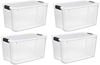 product image for STERILITE 70-Quart Clear Storage Container Box Tote (4 Pack)