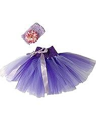 Newborn Baby Girls Tutu Skirt Flower Headband Photo Props Costume Outfits 1541