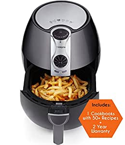 Air Fryer by Cozyna, Low Fat Healthy and Multi Cooker with Rapid Air Circulation System, 3.2 L with 2 e-cookbooks Included (over 50 recipes)