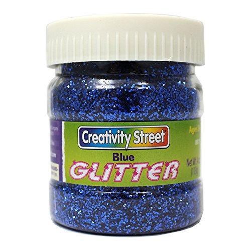 CHENILLE KRAFT COMPANY GLITTER 4 OZ. BLUE (Set of 24) by Chenille Kraft