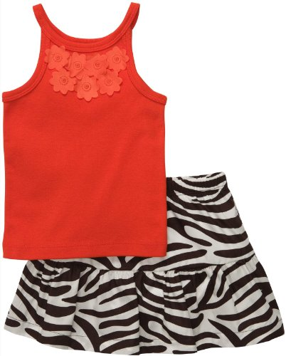 Carters Zebra Print Skort Set ORANGE, Red, 3 (Zebra Skort)