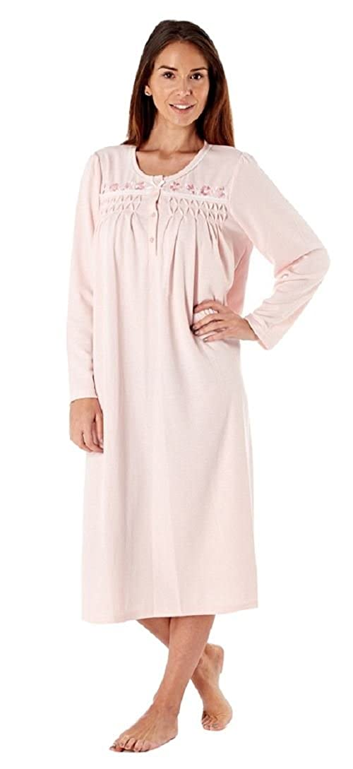 Inspirations Ladies Long Sleeve Lightly Brushed Soft Nightdress Nightie LN652