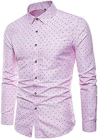 IYFBXl Camisa de algodón de Talla Grande para Hombre ...