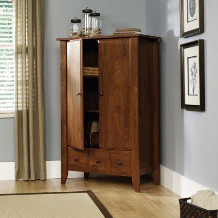 Antique Armoire French Doors Oak Wardrobe Closet Cabinet